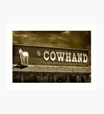 'Cowhand' Colorado. Art Print