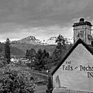 The view from the Falls of Dochart Inn - B&W by Tom Gomez