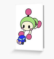 Green Bomberman - Super Bomberman R Greeting Card