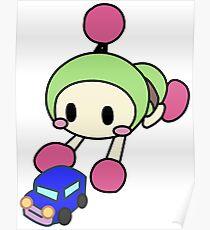 Green Bomberman - Super Bomberman R Poster