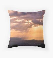 glass house mountains, queensland, australia Throw Pillow