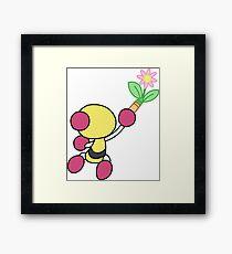 Yellow Bomberman - Super Bomberman R Framed Print