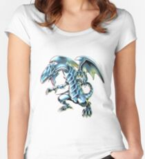 Blue Eyes White Dragon Yu-gi-oh Women's Fitted Scoop T-Shirt