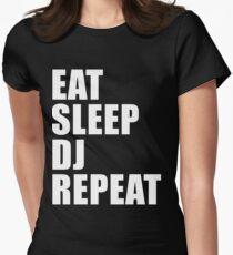 Eat Sleep DJ Repeat Cute For T Shirt Man Men Woman Women Dee Jay Music Artist Party Wedding Womens Fitted T-Shirt