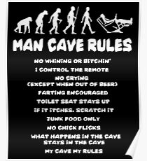 Man Cave Rules t-shirt Poster