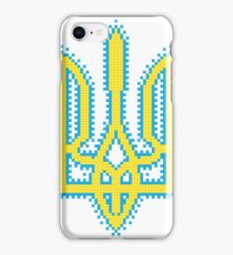 Ukrainian Tryzub with embroidery effect iPhone Case/Skin