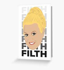 Tarjeta de felicitación Kim Woodburn: limpiadora de televisión británica y celebridad