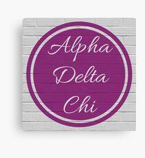 Alpha Delta Chi Purple Circle Canvas Print