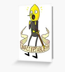 unacceptable!!! Greeting Card