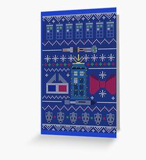 Who Christmas Sweater Greeting Card