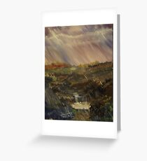 Rainstorm - God refreshing and cleaning the earth Greeting Card