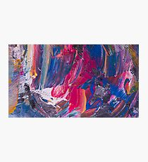 Abstract acrylic painting using several colors Photographic Print
