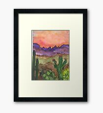 Dessert sunset Framed Print