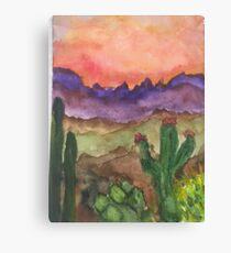Dessert sunset Canvas Print