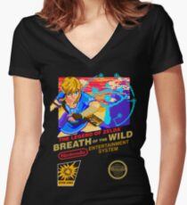 Breath of the Wild NES Women's Fitted V-Neck T-Shirt