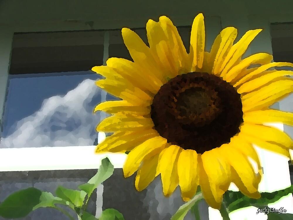 Sunflower & Clouds by Judy Gayle Waller