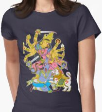 Hindu Goddess Durga Womens Fitted T-Shirt