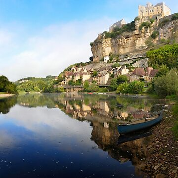 Dordogne river with Beynac-et-Cazenac village and castle by pljvv