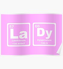 Lady - Periodic Table Poster