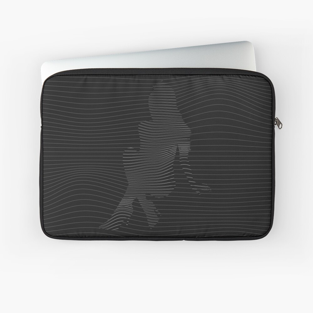 Ariana Schallwelle Illustration Laptoptasche