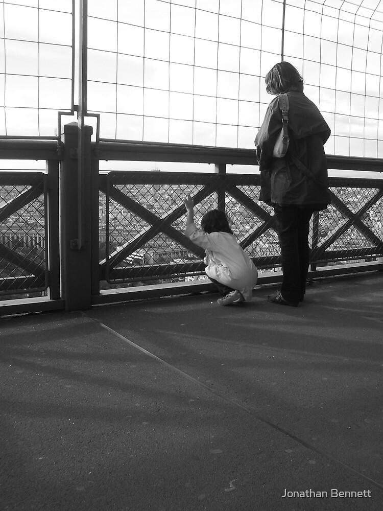 Mother & Daughter, Eiffel Tower by Jonathan Bennett