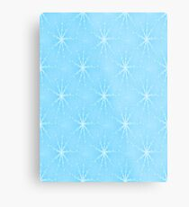 Blue Winter Snowflakes Metal Print