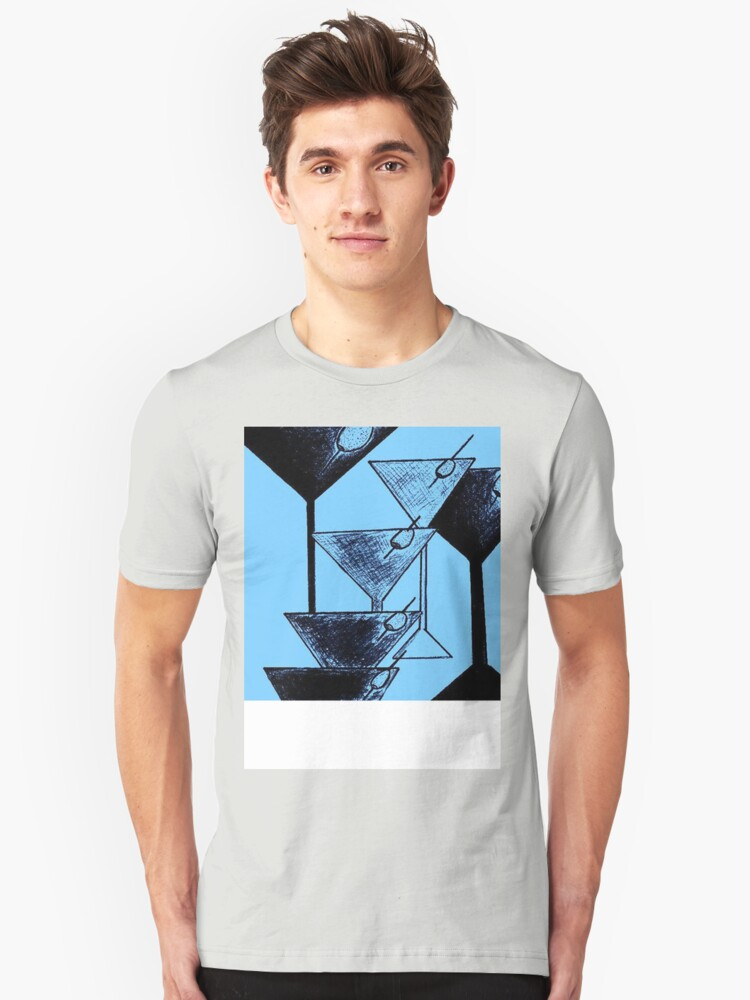 Abstract Martini  Unisex T-Shirt Front