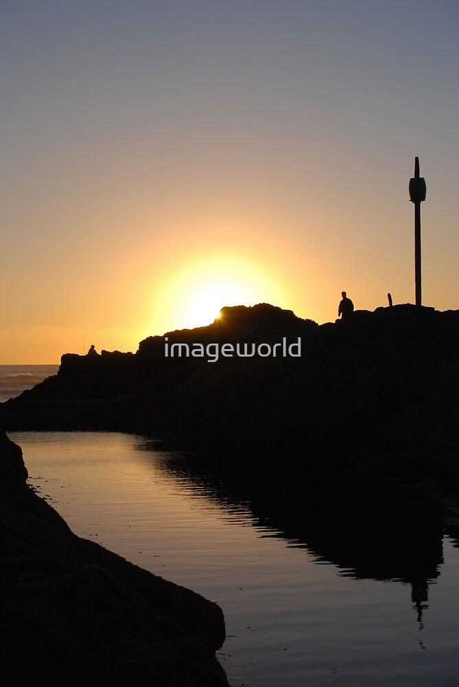 Sunset at Barrel Rock by imageworld