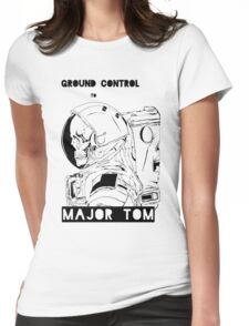David Bowie Major Tom Astronaut Skeleton Womens Fitted T-Shirt