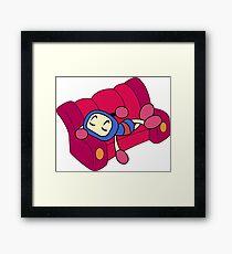 Blue Bomberman - Super Bomberman R  Framed Print