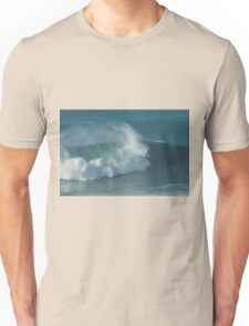 Pro Surfer on XXL waves at Nazare Portugal Unisex T-Shirt