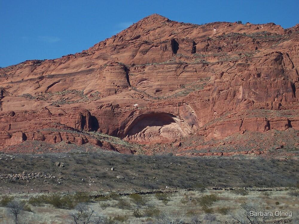 Cave in Red Desert by Barbara Olney
