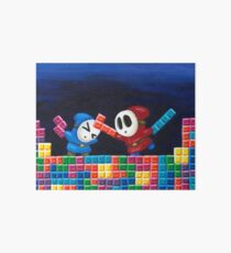 Shy Guys Playing Tetris Art Board
