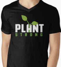 Plant Strong Men's V-Neck T-Shirt