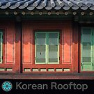 Doors in Changdeok Palace in Seoul with KR Logo by koreanrooftop