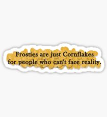 Cornflakes and Frosties Sticker