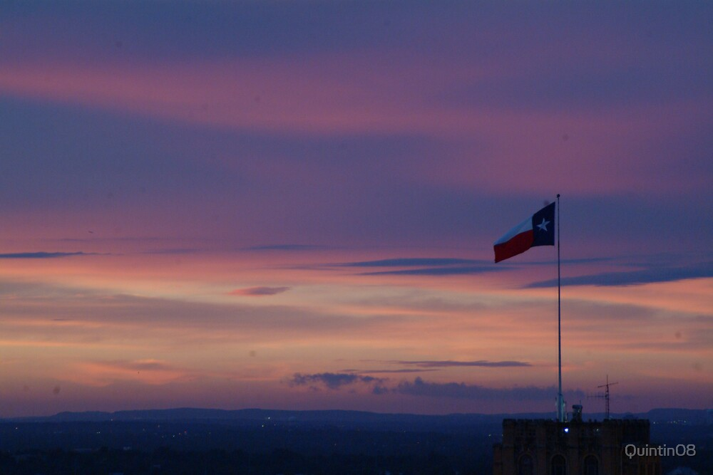 Texas Flag with Sunset by Quintin08