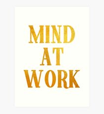 Mind at Work inspired by Angelica Schuyler from Hamilton Art Print