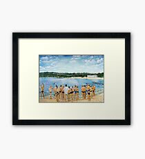 The Swimming Club Framed Print