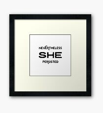 SHE PERSISTED stickers Framed Print