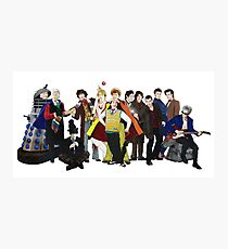 Doctor Who - The 13 Doctors II (lineup) Photographic Print