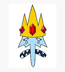 Adventure Time (Ice King) Photographic Print