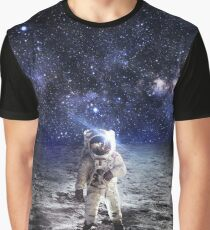Space Astronaut Moon Landing Alien Galaxy Graphic T-Shirt