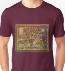 Funny Vintage Cartoon Chicago Gangland Map T-Shirt