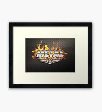 Heavy Metal Fire Framed Print