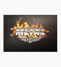 Heavy Metal Fire Photographic Print