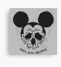 Skull Mouse Canvas Print