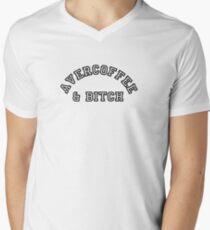 AVERCOFFEE & BITCH: Black logo Men's V-Neck T-Shirt