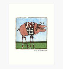 Stilt pig Art Print