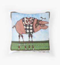 Stilt pig Throw Pillow